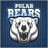 北极熊头吉祥人-传染媒介例证 皇族释放例证