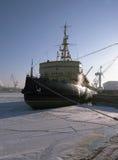 北极破碎机冰 图库摄影