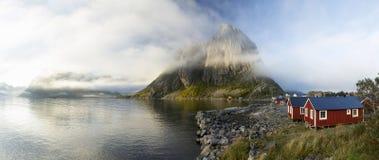 北极风景Hamnoy, Lofoten海岛 免版税图库摄影