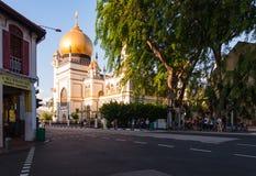 北桥路的苏丹清真寺在新加坡 免版税库存照片