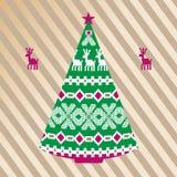 北欧圣诞树 库存照片