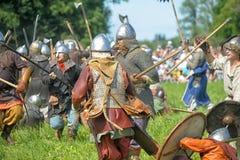 北欧海盗争斗 免版税库存图片