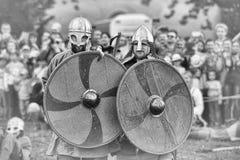 北欧海盗争斗 库存照片