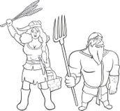北欧海盗农夫等高 库存图片