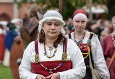 北欧海盗妇女 免版税库存图片