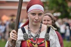 北欧海盗妇女 图库摄影