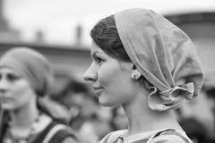 北欧海盗妇女 免版税库存照片