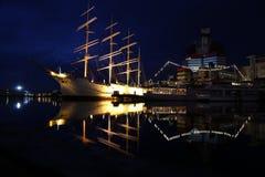 北欧海盗小船在哥特人,瑞典 免版税图库摄影