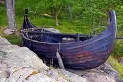 北欧海盗小船 免版税库存图片