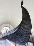 北欧海盗小船 库存图片