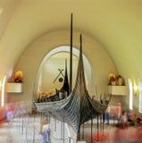 北欧海盗小船 库存照片