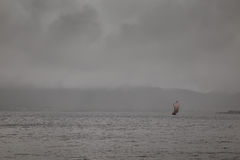 北欧海盗小船 免版税库存照片