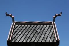 北欧海盗屋顶 库存图片