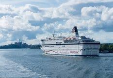 北欧海盗巡航轮渡在斯德哥尔摩运输灰姑娘 图库摄影