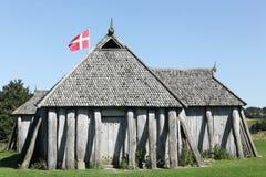 北欧海盗房子在Hobro 免版税库存图片