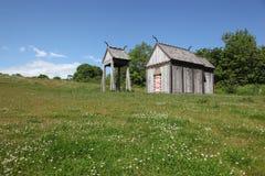 北欧海盗教会在Moesgaard 图库摄影