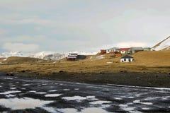 北欧海盗村庄在冰岛 库存照片