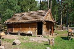 北欧海盗村庄 库存照片