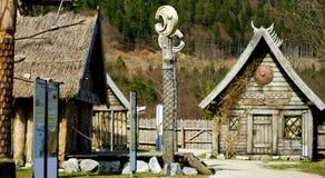 北欧海盗村庄 免版税库存照片