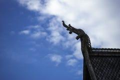 北欧海盗梯级教会细节 免版税图库摄影
