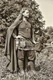 北欧海盗的画象 免版税库存图片