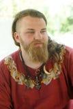 北欧海盗的画象 免版税库存照片