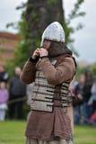 北欧海盗的画象 免版税图库摄影