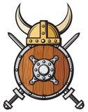 北欧海盗盔甲 免版税图库摄影