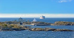 北欧海盗线在波罗的海的轮渡船 库存照片