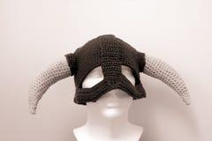 北欧海盗羊毛帽子Skyrim 库存照片
