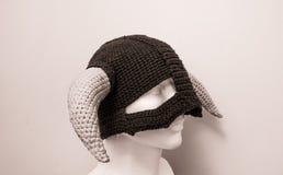北欧海盗羊毛帽子Skyrim 库存图片