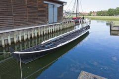 北欧海盗船博物馆,罗斯基勒 免版税库存图片