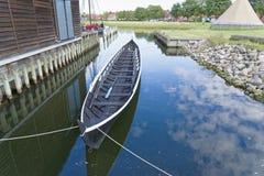 北欧海盗船博物馆,罗斯基勒 库存图片