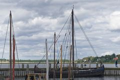 北欧海盗船博物馆,罗斯基勒 图库摄影