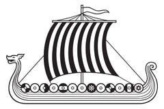 北欧海盗船 库存图片