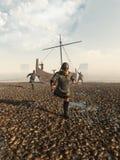 北欧海盗袭击 免版税库存照片