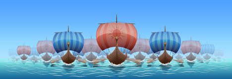 北欧海盗 库存图片