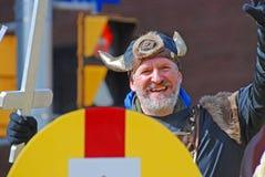 北欧海盗Cosplay在圣帕特里克` s天游行渥太华,加拿大 免版税图库摄影