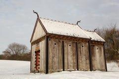 北欧海盗Moesgaard,丹麦梯级教会  免版税库存照片
