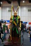 北欧神话里的火神,奇迹特级英雄代表在曼谷,泰国宣传电影 免版税库存照片