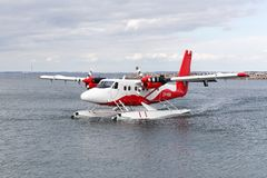 北欧水上飞机在奥尔胡斯,丹麦 免版税库存图片
