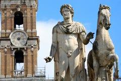 北河三雕象在罗马,意大利 库存图片