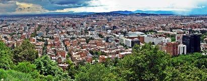 北波哥大,哥伦比亚全景  免版税库存图片