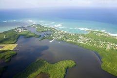 北波多黎各鸟瞰图  库存照片