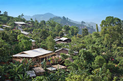 北泰国村庄 免版税库存照片