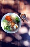 北泰国面条沙拉 免版税库存图片