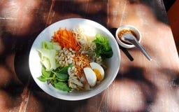 北泰国面条沙拉 免版税库存照片