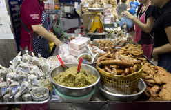 北泰国食物在市场上 免版税图库摄影