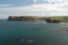北海和阿伯丁郡海岸线,苏格兰 免版税库存图片