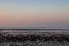 北海德国威廉港在晚上 免版税库存照片